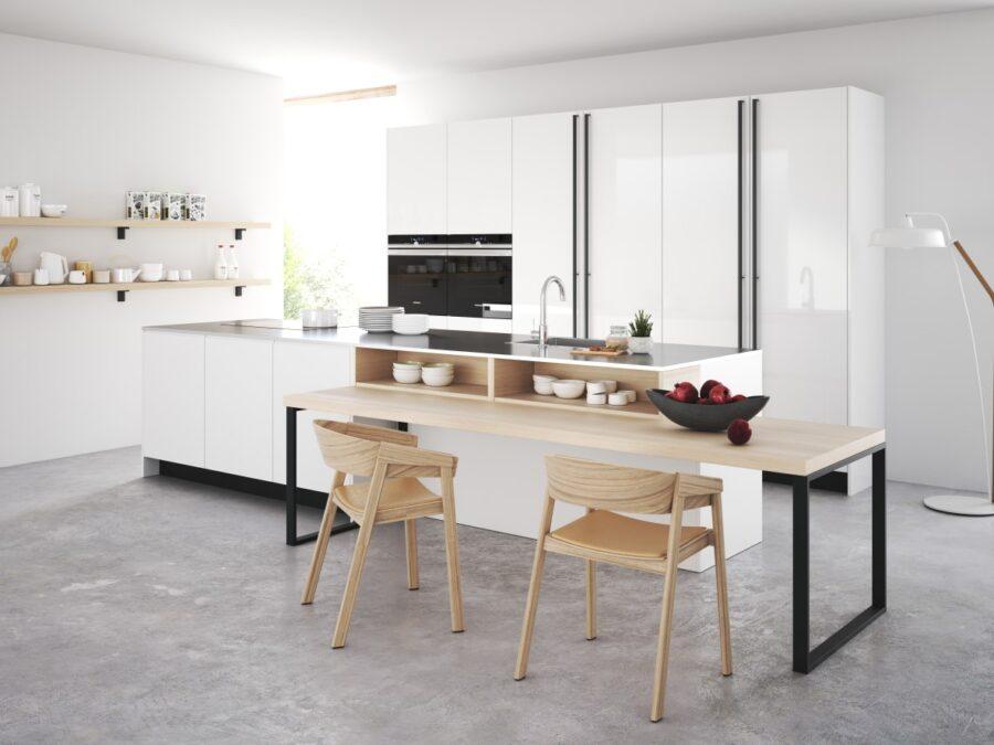 Rotpunkt Küche snow 1