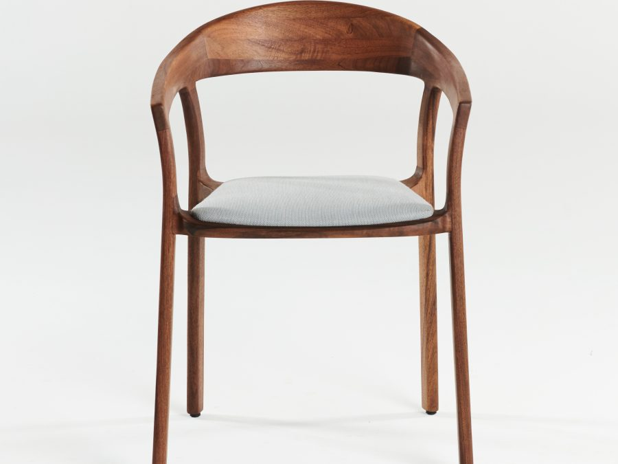 Tara chair, walnut, A03, in fabric 8